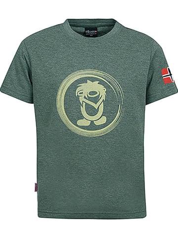 "Trollkids Koszulka funkcyjna ""Trollfjord"" w kolorze khaki"