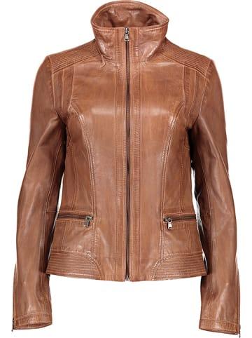 7eleven Skórzana kurtka w kolorze brązowym