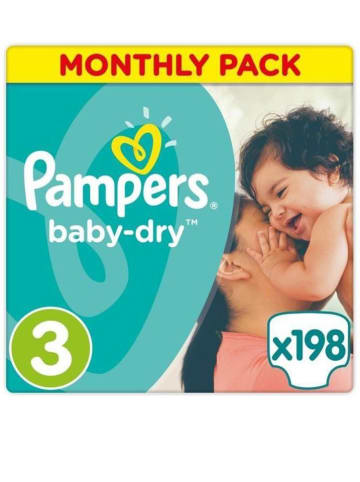 """Pampers Maandpak luiers """"Baby Dry"""" gr. 3, 5-9 kg (198 stuks)"""
