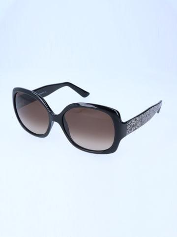 Etro Damskie okulary przeciwsłoneczne w kolorze czarno-brązowym