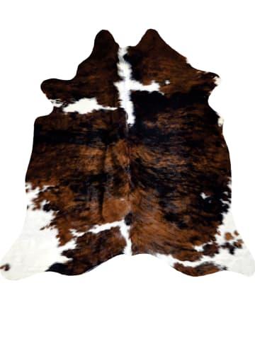 Kaiser Naturfellprodukte H&L Skóra bydlęca w kolorze brązowo-białym