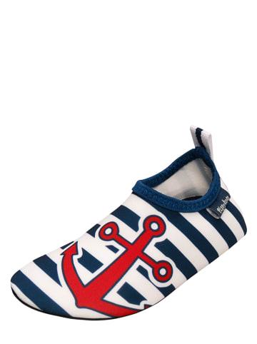 Playshoes Zwemschoenen donkerblauw/wit