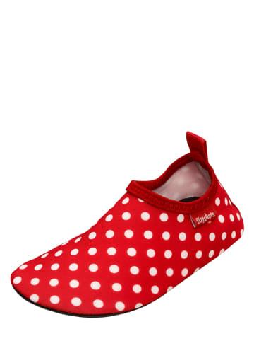Playshoes Buty kąpielowe w kolorze czerwonym