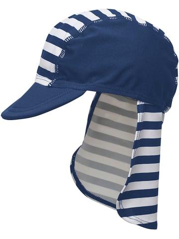 Playshoes Pet met nekbescherming wit/donkerblauw