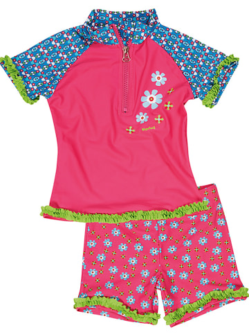 """Playshoes 2tlg. Badeoutfit """"Blumen"""" in Pink"""