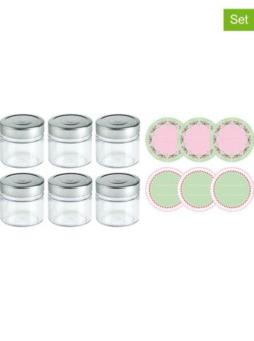 Dr. Oetker 6er-Set: Einmachgläser in Silber - 210 ml