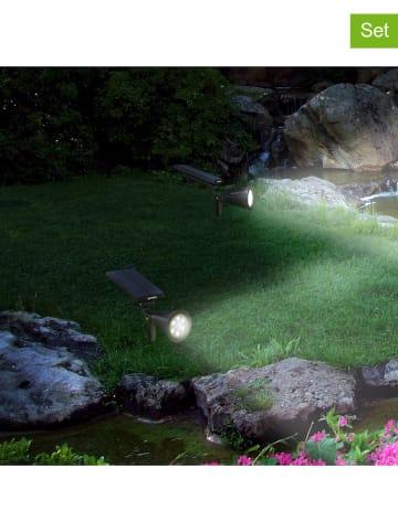 """Lumisky Solarne lampy LED (2 szt.) """"Spiky"""" w kolorze czarnym - wys. 42 cm"""