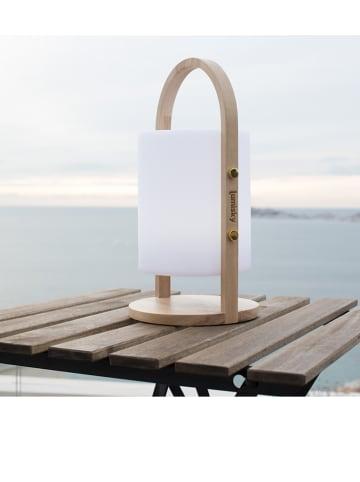 """Lumisky LED-Dekoleuchte """"Woody"""" in Weiß - (H)39 x Ø 18 cm"""
