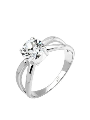 Elli Srebrny pierścionek z kryształkiem Swarovski