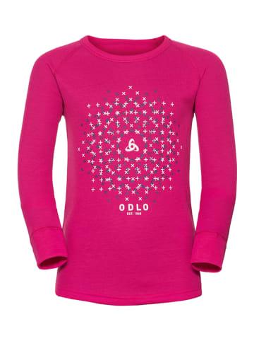 """Odlo Koszulka funkcyjna """"Warm Trend"""" w kolorze różowym"""