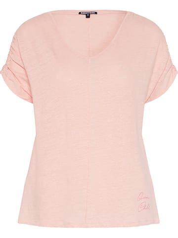 """Chiemsee Lniana koszulka """"Tropicana"""" w kolorze jasnoróżowym"""
