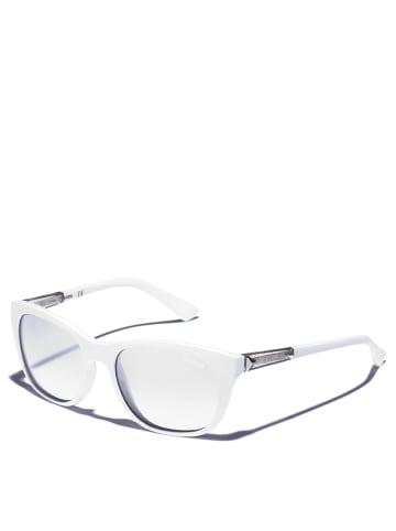 Guess Damskie okulary przeciwsłoneczne w kolorze biało-srebrnym