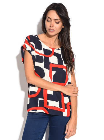 William de Faye Shirt donkerblauw/rood