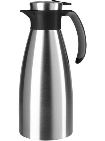 """Emsa Dzbanek termiczny """"Soft Grip"""" w kolorze srebrno-czarnym - 1,5 l"""