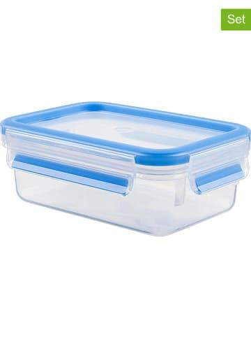 """Emsa 2er-Set: Lunchboxen """"Clip & Close"""" in Blau - 550 ml"""