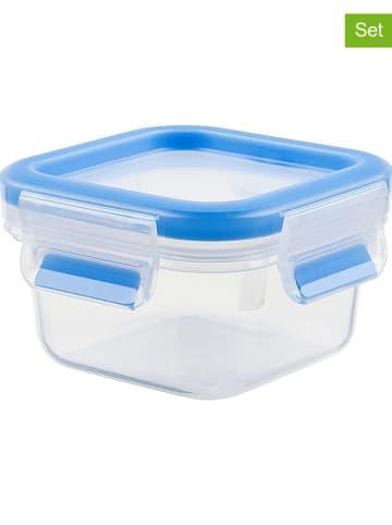 """Emsa 2-delige set: lunchboxen """"Clip & Close"""" blauw - 250 ml"""