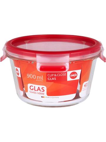"""Emsa Pojemnik spożywczy """"Clip & Close"""" w kolorze czerwonym - 900 ml"""