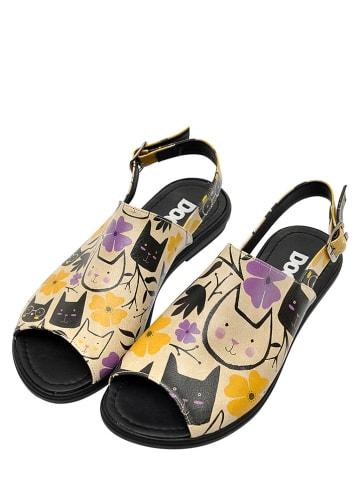 "Dogo Sandalen ""Cats Forever"" in Beige/ Bunt"
