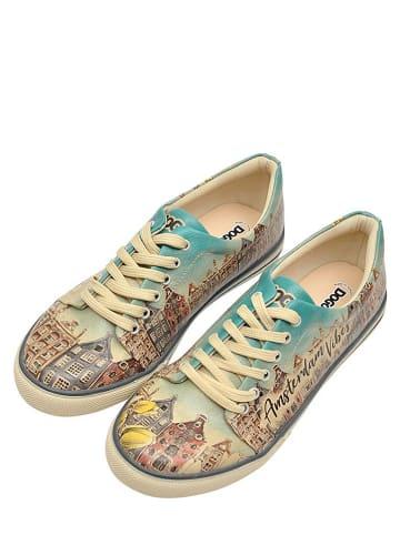 """Dogo Sneakersy """"Amsterdam Vibes"""" w kolorze beżowo-błękitnym"""
