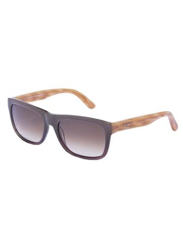 Salvatore Ferragamo Damen-Sonnenbrille in Beige/ Oliv