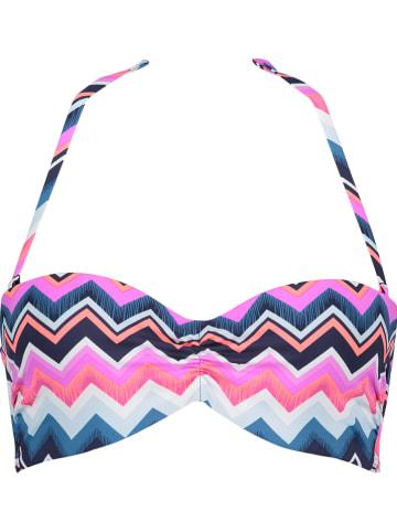 LASCANA Biustonosz bikini w kolorze granatowym ze wzorem