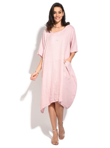 Le Jardin du Lin Leinen-Kleid in Rosa