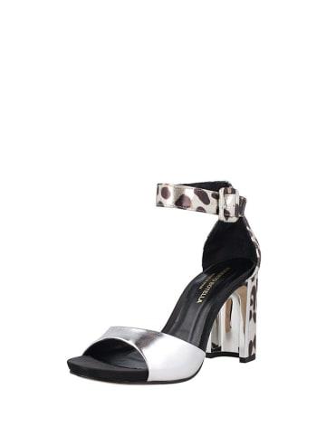 Roberto Botella Sandały w kolorze srebrno-czarnym