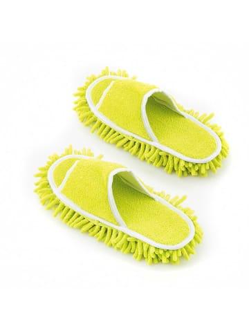 InnovaGoods Kapcie-mopy w kolorze limonkowym - (S)27 x (W)4 x (G)11 cm