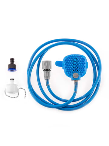 InnovaGoods Hondenborstel met slang blauw - (B)9 x (H)10 x (D)1 cm