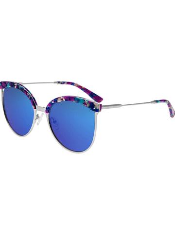 """Bertha Dameszonnebril """"Hazel"""" goudkleurig-meerkleurig/blauw"""