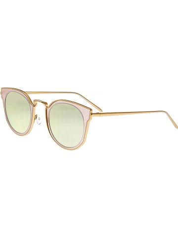 """Bertha Damskie okulary przeciwsłoneczne """"Harper"""" w kolorze żółto-złotym"""