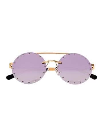 "Bertha Damen-Sonnenbrille ""Harlow"" in Gold/ Lila"