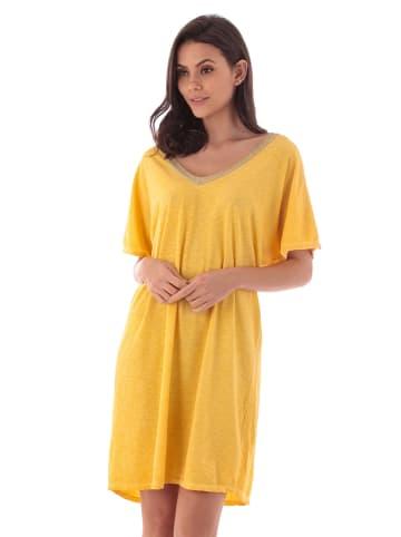 Fille de Coton Sukienka w kolorze żółtym