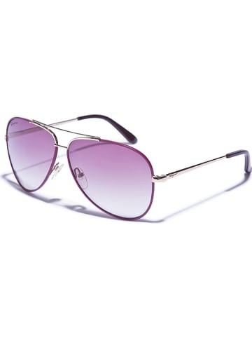 Salvatore Ferragamo Damskie okulary przeciwsłoneczne w kolorze fioletowo-złotym