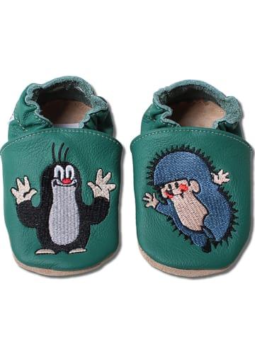 Hobea Skórzane buty w kolorze zielonym do raczkowania