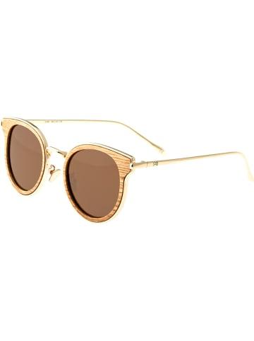 """Earth wood Okulary przeciwsłoneczne unisex """"Derawan"""" w kolorze brązowym"""