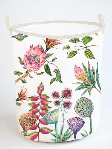 """Madre Selva Torba """"Flores Salvajes"""" w kolorze białym ze wzorem - wys. 50 x Ø 40 cm"""