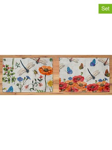 """Madre Selva 2-delige set: placemats """"Tierra Bella"""" beige/meerkleurig - (L)45 x (B)30 cm"""