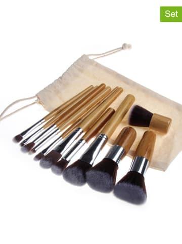 """Zoë Ayla 12tlg. Make-up-Pinsel-Set: """"Professional"""" in Beige"""