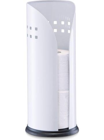 Zeller Stojak w kolorze białym na papier toaletowy - Ø 14,5 cm