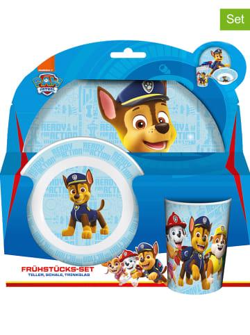 """Paw Patrol 3-częściowy zestaw śniadaniowy """"Paw Patrol"""" w kolorze błękitnym"""