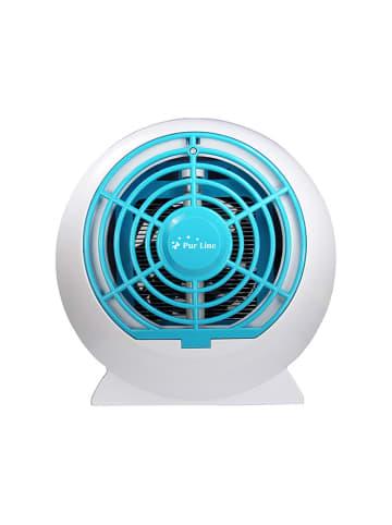 """PURLINE UV-Insektenvernichter """"Turbo"""" in Weiß/ Türkis - (B)24 x (H)24 x (T)15 cm"""