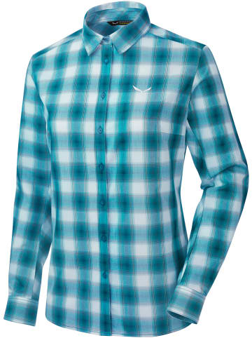 """Salewa Functionele blouse """"Fanes"""" wit/turquoise"""