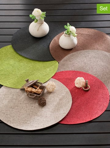 "Calitex 4-delige set: placemats ""Ball"" taupe"