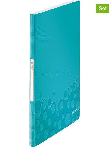 """Leitz Foldery (2 szt.) """"Wow"""" w kolorze turkusowym - A4"""