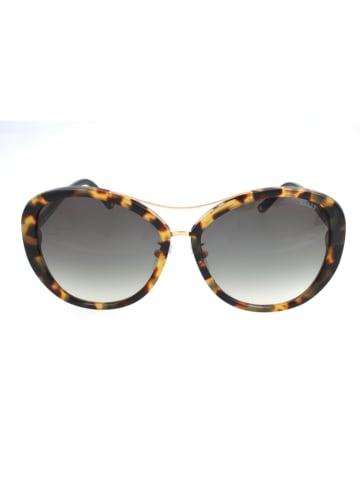 Bally Damen-Sonnenbrille Schwarz-Braun/ Grau