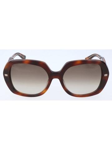 Etro Damskie okulary przeciwsłoneczne w kolorze brązowym