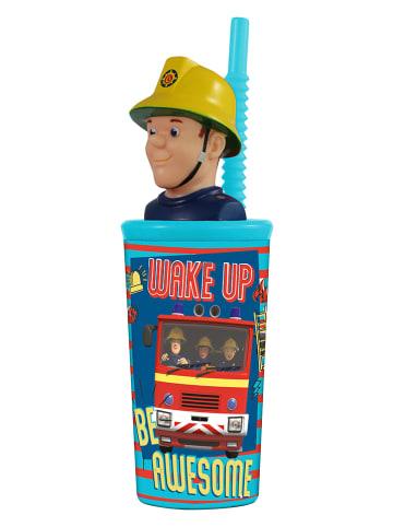 Feuerwehrmann Sam Kubek w kolorze czerwono-niebieskim ze słomką - 360 ml