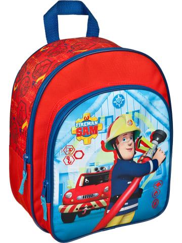 Feuerwehrmann Sam Plecak kolorze niebiesko-czerwonym - 26 x 30 x 10 cm