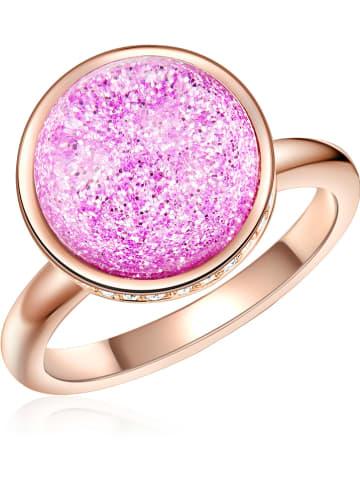 Lilly & Chloe Rosévergulde ring met Swarovski-kristallen